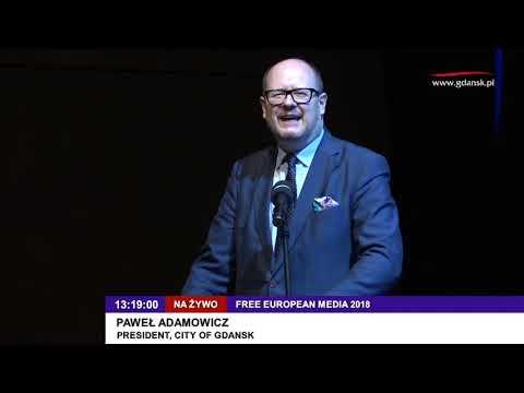 Pawel Adamowicz Free European Media 2018 Gdansk President polennu dk