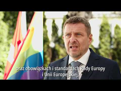 Ambassador Ole Toft presents the Open Letter of Support IDAHOT 2021