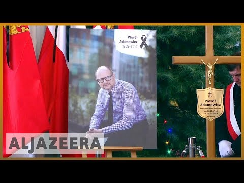 🇵🇱 Pawel Adamowicz: Thousands turn out for funeral of Polish mayor | Al Jazeera English