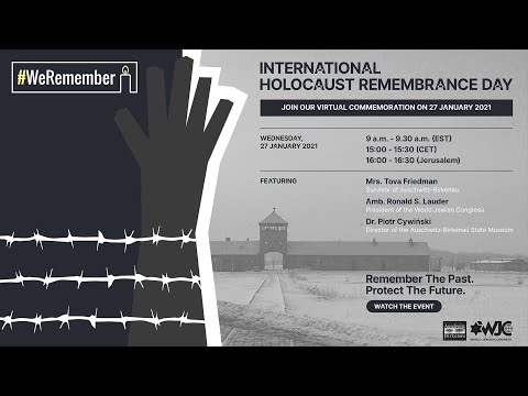 International Holocaust Remembrance Day – Virtual Commemoration from Auschwitz
