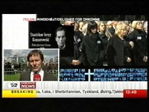 Smolensk mindehøjtidelighed TV2 News 18 april 2010