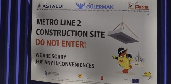Byggeri_af_Metro_linie_2_i_Warszawa_Martin_Bager_Polen_polennu