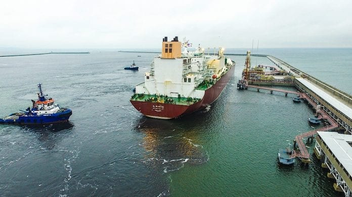 Første_levering_af_Naturgas_fra_Mellemøsten_til_Polen_i_havnen_i_Swinoujscie