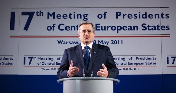 Komorowski,_topmøde,Warszawa