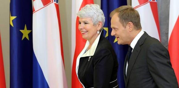 Kroatiens_statsminister,_Jadranka_Kosor_og_Polens_Donald_Tusk