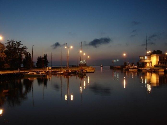 Lagunen_ved_udsejling_fra_Elblag_til_Østersøen_polen