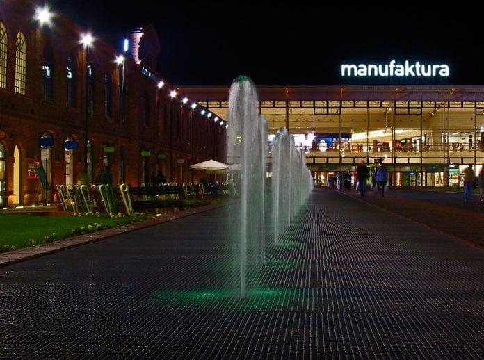 Manufaktura_Lodz_længste_springvand