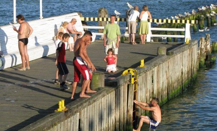Polen-Sopot-Strand-badning