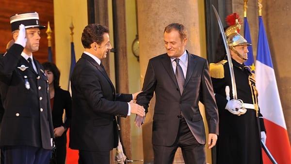 Polens_regeringsleder_Donald_Tusk_og_EU_formand_Sarkozy
