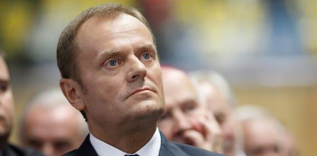 Polens_statsminister_Donald_Tusk_mister_opbakning