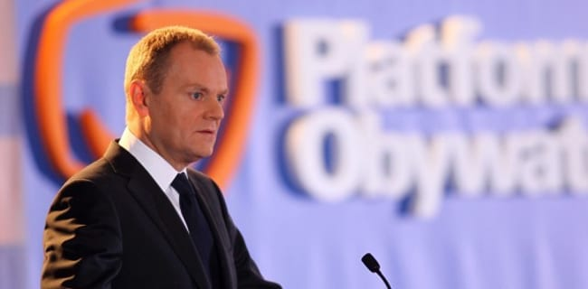 Polens_statsminister_Donald_Tusk_til_PO_møde