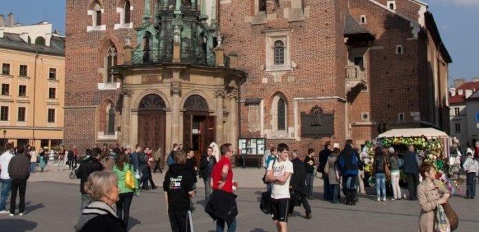 Studerende_gik_i_protest_i_Krakow_i_Polen