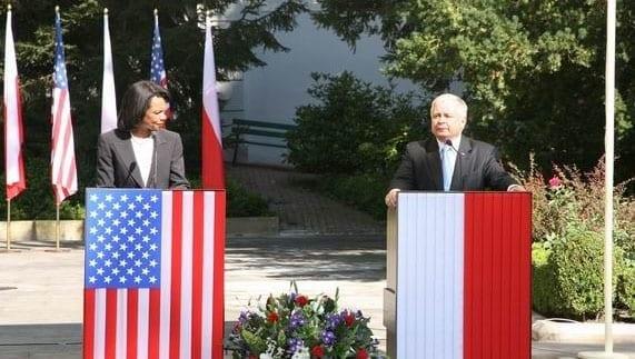 USA's_udenrigsminister_og_den_polske_præsident_i_august_2008