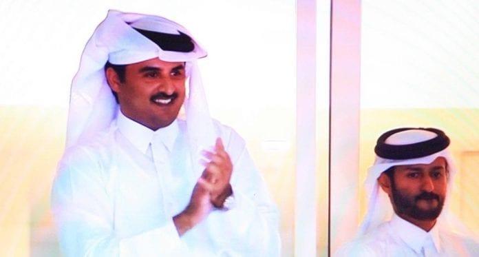 emiren_af_qatar_glæder_sig_over_sejr_over_Polen_vm_håndbold_polennu