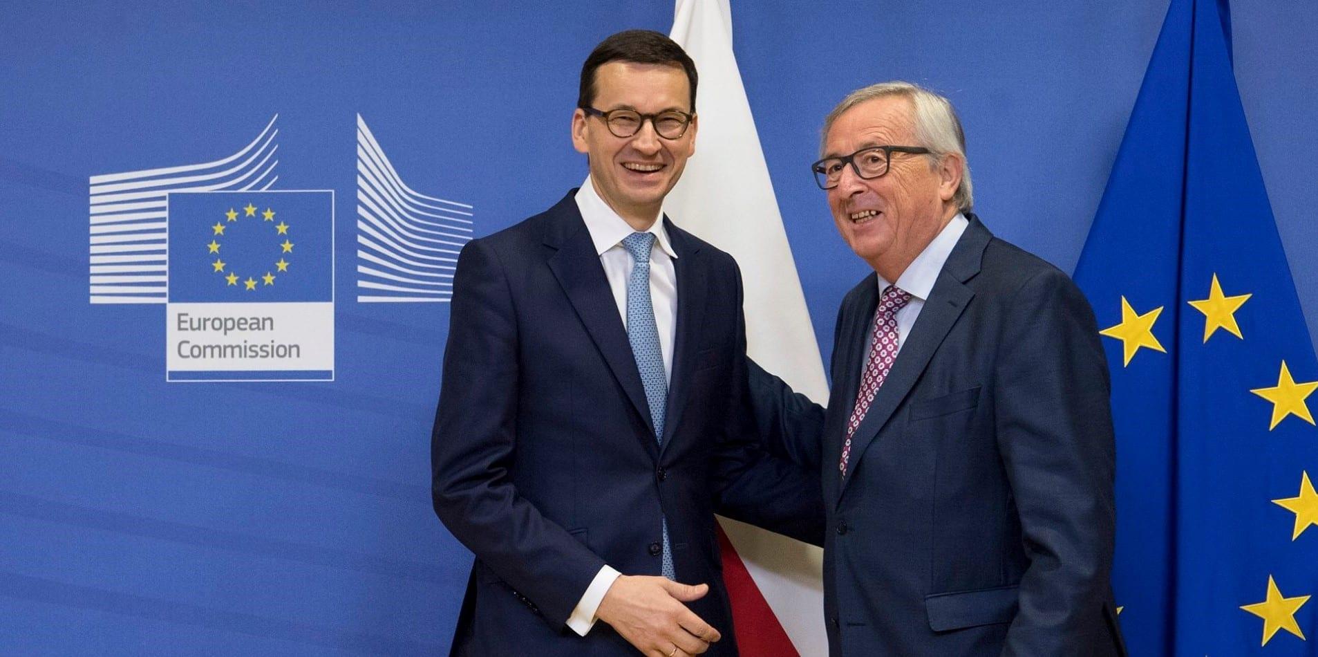 polen_statsminister_og_juncker_eu_artikel_7