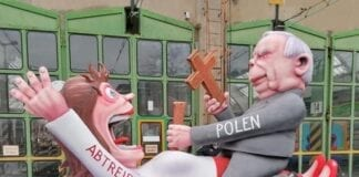 Kaczynski i abort optog i Tyskland