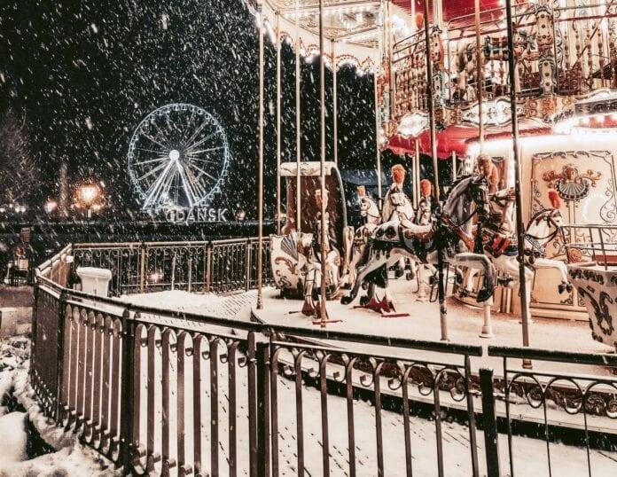 sne og kulde i Polen mandag igen