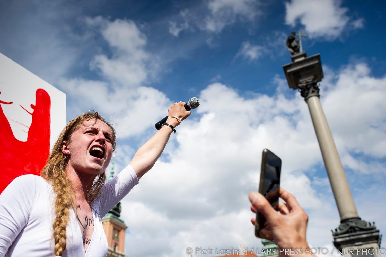 Protester mod Hviderusland i Polen