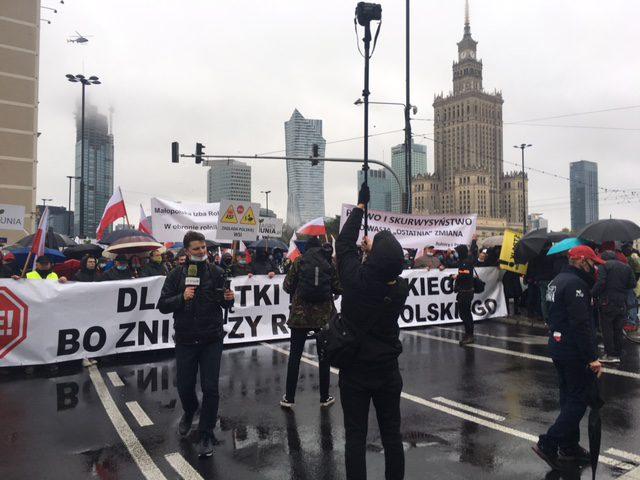 utilfredse polske landmænd og fiskere