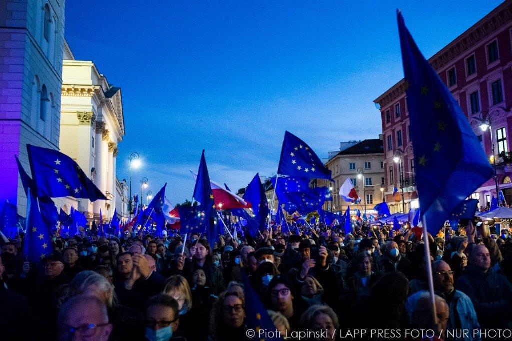 EU demo Polen